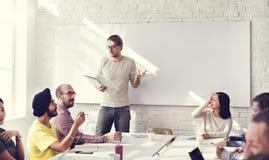 Concept de écoute de réunion de formation de haut-parleur de séminaire Photographie stock