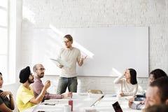 Concept de écoute de réunion de formation de haut-parleur de séminaire Images stock
