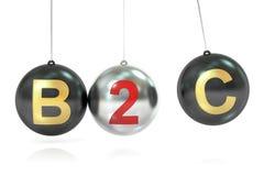 Concept de équilibrage de B2C, rendu 3D Photos libres de droits