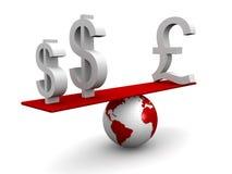 Concept de équilibrage de devise d'Internatianal Photo stock