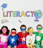 Concept de étude scolaire de graphique d'enfants d'école Images libres de droits