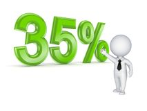 concept de 35%. Images stock