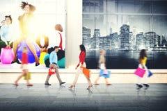 Concept de achat de vente du consommateur de client au détail d'achat photo stock