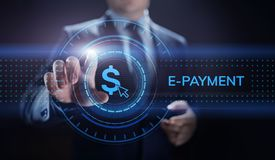 concept de achat en ligne d'affaires d'Internet de transfert d'argent de Digital d'E-paiement photo stock