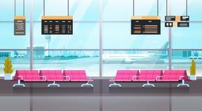 Concept de attente intérieur de Hall Departure Lounge Modern Terminal d'aéroport Photographie stock