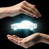 Concept de autodienst, veiligheid, verzekering stock afbeelding
