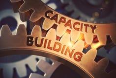 Concept de bâtiment de capacité Trains d'or illustration 3D illustration de vecteur