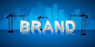 Concept de bâtiment de marque de conception, Photo libre de droits