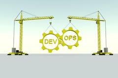 Concept de bâtiment de DevOPS Images libres de droits