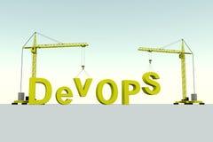 Concept de bâtiment de DevOPS Photos libres de droits