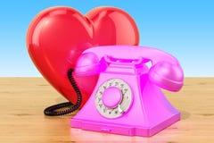 Concept de badinage au téléphone à caractère sexuel, 3D Photos libres de droits