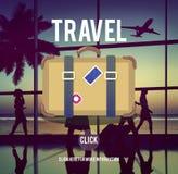Concept de bagage de vacances d'envie de voyager de voyage de tourisme Photos stock