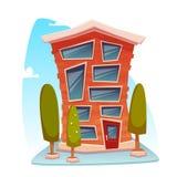 Concept de bande dessinée d'immeuble de bureaux Illustration de vecteur Images libres de droits