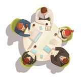 Concept de bande dessinée de réunion d'affaires Photo stock
