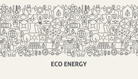 Concept de bannière d'énergie d'Eco Image libre de droits