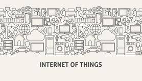 Concept de bannière d'Iot Image libre de droits