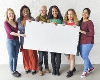 Concept de bannière de l'espace de copie d'unité d'amitié de filles Image stock