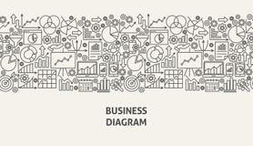 Concept de bannière de diagramme d'affaires Images stock