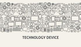 Concept de bannière de dispositif de technologie Image stock
