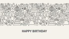Concept de bannière de joyeux anniversaire Photographie stock libre de droits