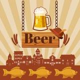 Concept de bar de bière, style de bande dessinée Photos libres de droits