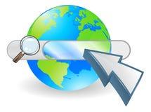 Concept de bar de seach de globe de Web Image libre de droits