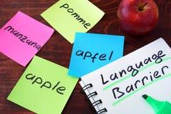 Concept de barrière linguistique photographie stock libre de droits