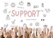 Concept de base de charité de donations de soutien image libre de droits