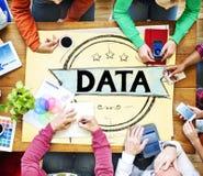 Concept de base de données du système d'analyse de données de l'information Photo stock