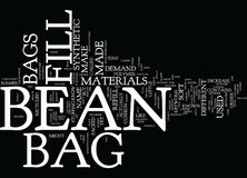 Concept de Bean Bag Furniture Word Cloud Photos stock