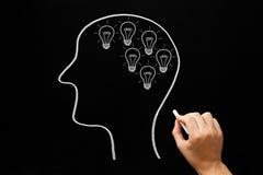 Concept de beaucoup d'idées d'ampoules de création images stock