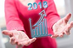 Concept de bedrijfsgroei in 2018 Royalty-vrije Stock Fotografie