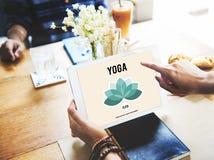 Concept de bien-être d'équilibre de relaxation de méditation de yoga image stock