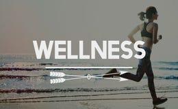 Concept de bien-être de bien-être de séance d'entraînement de sport d'exercice images libres de droits