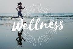 Concept de bien-être de bien-être de séance d'entraînement de sport d'exercice photographie stock