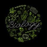 Concept 03 A de biologie Image libre de droits