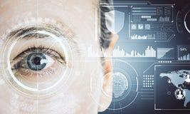 Concept de biométrie et d'avenir photos stock