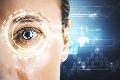 Concept de biométrie et d'identification photos libres de droits