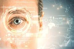 Concept de biométrie et de mot de passe photos libres de droits