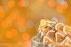 Concept de biscuits de pain d'épice Biscuits faits maison de pain d'épice Photographie stock libre de droits