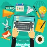 Concept de Blogging Photographie stock libre de droits
