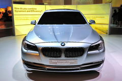Concept de BMW berline d'ActiveHybrid de 5 séries Photos libres de droits