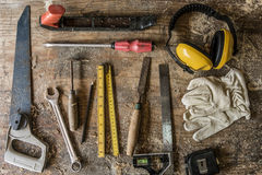 Concept de boisage de Craftman Lumber Timber de charpentier image libre de droits