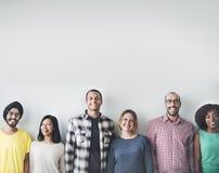 Concept de bonheur d'amitié d'amis de diversité de personnes Photographie stock