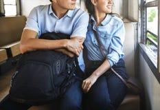 Concept de bonheur d'unité de datation d'amour de couples Images libres de droits