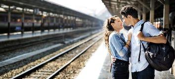 Concept de bonheur d'unité de datation d'amour de couples Image libre de droits