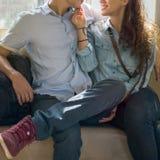 Concept de bonheur d'unité de datation d'amour de couples Photos libres de droits