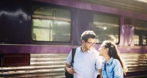 Concept de bonheur d'unité de datation d'amour de couples Photo stock