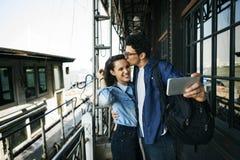 Concept de bonheur d'unité de datation d'amour de couples Images stock