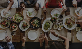 Concept de bonheur de cuisine de nourriture d'amitié de personnes Photo libre de droits